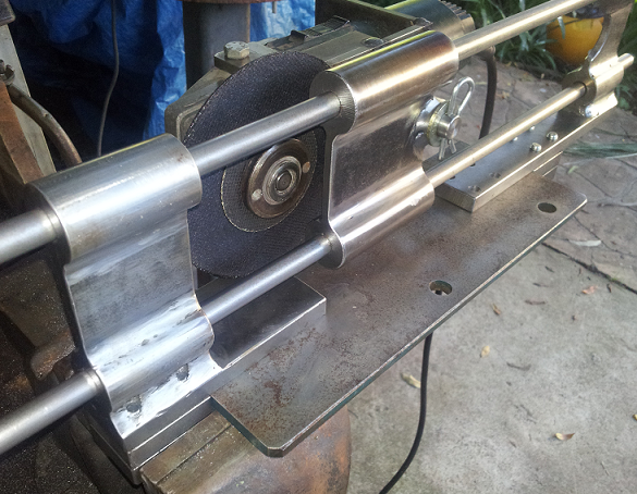 Project Angle Grinder Guide Mechanism To Cut Sheet